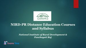 NIRD-PR Distance Education Courses and Syllabus - National Institute of Rural Development & Panchayati Raj
