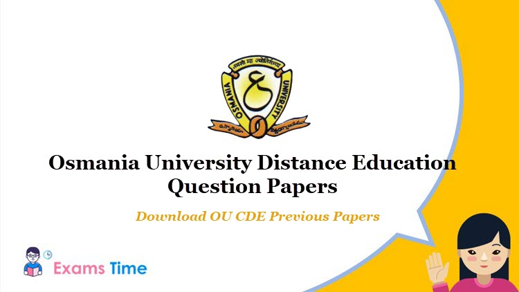 Osmania University Distance Education Question Papers 2019