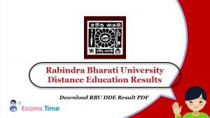Rabindra Bharati University Distance Education Results - Download RBU DDE Result PDF