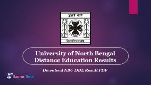 University of North Bengal Distance Education Results - Download NBU DDE Result PDF