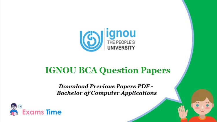 IGNOU BCA Question Papers - Download Previous Papers PDF - Bachelor of Computer Applications