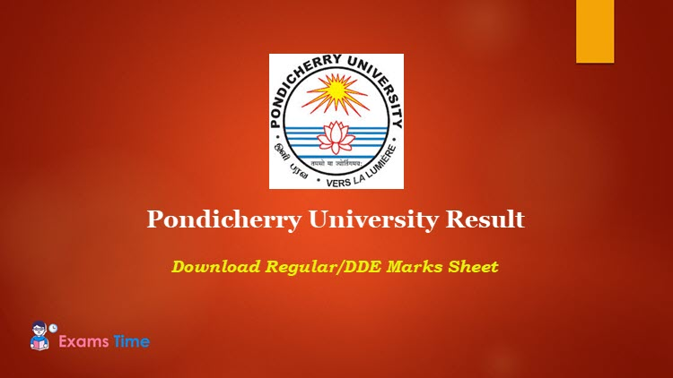 Pondicherry University Result 2019 Download Ug Pg Professional Courses Results Exams Time